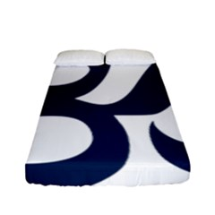 Hindu Om Symbol (dark Blue) Fitted Sheet (full/ Double Size) by abbeyz71