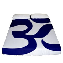Om Symbol (midnight Blue) Fitted Sheet (california King Size) by abbeyz71
