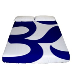 Om Symbol (navy Blue) Fitted Sheet (king Size) by abbeyz71