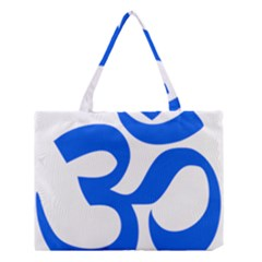 Hindu Om Symbol (blue) Medium Tote Bag by abbeyz71