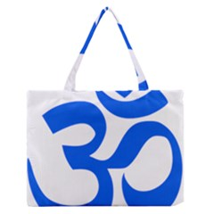 Hindu Om Symbol (blue) Medium Zipper Tote Bag by abbeyz71
