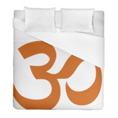 Hindu Om Symbol (chocolate Brown) Duvet Cover (full/ Double Size) by abbeyz71