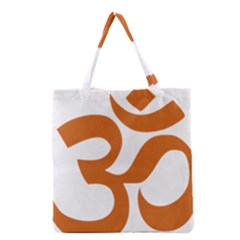 Hindu Om Symbol (chocolate Brown) Grocery Tote Bag by abbeyz71