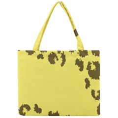 Banner Polkadot Yellow Grey Spot Mini Tote Bag by Mariart