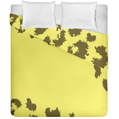 Banner Polkadot Yellow Grey Spot Duvet Cover Double Side (california King Size) by Mariart