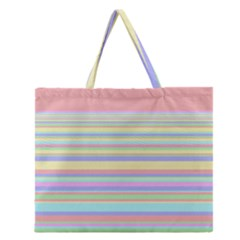 All Ratios Color Rainbow Pink Yellow Blue Green Zipper Large Tote Bag by Mariart