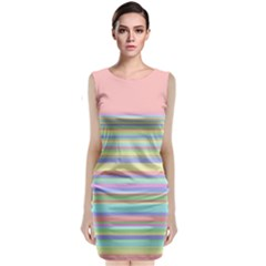 All Ratios Color Rainbow Pink Yellow Blue Green Sleeveless Velvet Midi Dress by Mariart