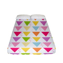 Bunting Triangle Color Rainbow Fitted Sheet (full/ Double Size)