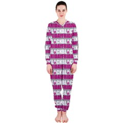Black Friday Sale White Pink Disc Onepiece Jumpsuit (ladies)