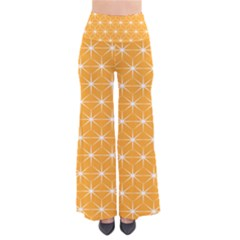 Yellow Stars Iso Line White Pants by Mariart