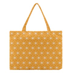 Yellow Stars Iso Line White Medium Tote Bag by Mariart