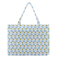Blue Yellow Star Sunflower Flower Floral Medium Tote Bag by Mariart