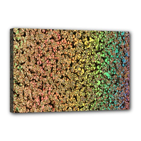Crystals Rainbow Canvas 18  X 12  by Mariart