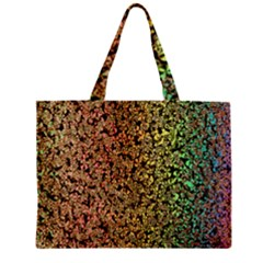 Crystals Rainbow Zipper Mini Tote Bag by Mariart