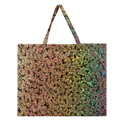 Crystals Rainbow Zipper Large Tote Bag by Mariart