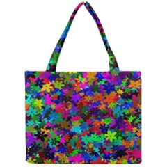 Flowersfloral Star Rainbow Mini Tote Bag by Mariart