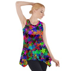 Flowersfloral Star Rainbow Side Drop Tank Tunic by Mariart