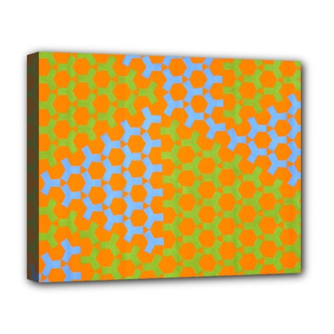 Green Blue Orange Deluxe Canvas 20  X 16   by Mariart