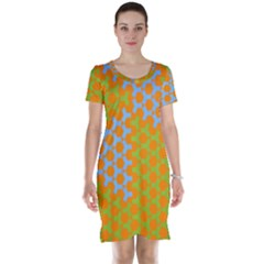 Green Blue Orange Short Sleeve Nightdress by Mariart