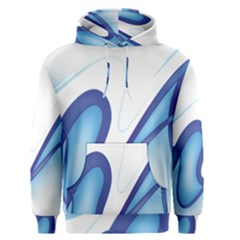 Glittering Abstract Lines Blue Wave Chefron Men s Pullover Hoodie by Mariart