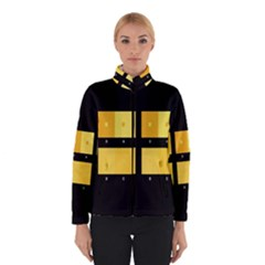 Horizontal Color Scheme Plaid Black Yellow Winterwear by Mariart