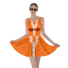 Iron Orange Y Combinator Gears Skater Dress by Mariart
