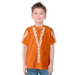 Iron Orange Y Combinator Gears Kids  Cotton Tee by Mariart