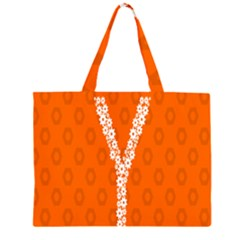 Iron Orange Y Combinator Gears Zipper Large Tote Bag by Mariart