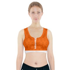 Iron Orange Y Combinator Gears Sports Bra With Pocket by Mariart