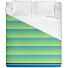 Line Horizontal Green Blue Yellow Light Wave Chevron Duvet Cover (california King Size) by Mariart