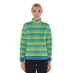 Line Horizontal Green Blue Yellow Light Wave Chevron Winterwear by Mariart