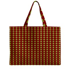 Hawthorn Sharkstooth Triangle Green Red Full Zipper Mini Tote Bag by Mariart