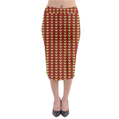 Hawthorn Sharkstooth Triangle Green Red Full Midi Pencil Skirt by Mariart