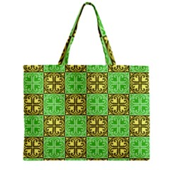 Clipart Aztec Green Yellow Mini Tote Bag by Mariart