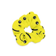 Linus Smileys Face Cute Yellow Velvet Scrunchie by Mariart