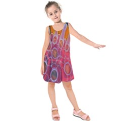 Micro Macro Belle Fisher Nature Stone Kids  Sleeveless Dress by Mariart