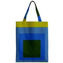 Plaid Green Blue Yellow Zipper Classic Tote Bag by Mariart