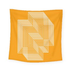 Orange Line Plaid Square Tapestry (small)