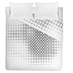 Polka Circle Round Black White Hole Duvet Cover Double Side (queen Size) by Mariart
