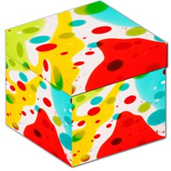 Polkadot Color Rainbow Red Blue Yellow Green Storage Stool 12   by Mariart