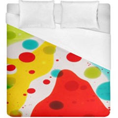 Polkadot Color Rainbow Red Blue Yellow Green Duvet Cover (king Size) by Mariart