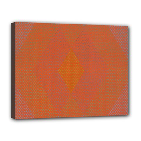 Live Three Term Side Card Orange Pink Polka Dot Chevron Wave Canvas 14  X 11  by Mariart