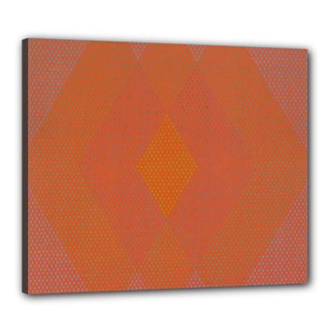 Live Three Term Side Card Orange Pink Polka Dot Chevron Wave Canvas 24  X 20  by Mariart