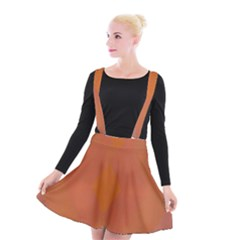 Live Three Term Side Card Orange Pink Polka Dot Chevron Wave Suspender Skater Skirt by Mariart
