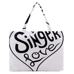 Singer Love Sign Heart Medium Zipper Tote Bag by Mariart