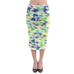Paint On A White Background             Midi Pencil Skirt by LalyLauraFLM