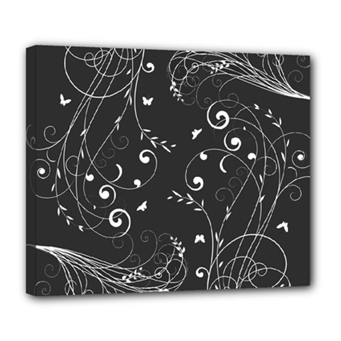 Floral Design Deluxe Canvas 24  X 20   by ValentinaDesign