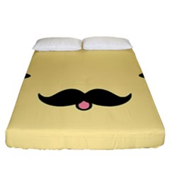 Mustache Fitted Sheet (california King Size)