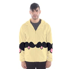 Mustache Hooded Wind Breaker (men)