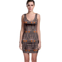 Bears Pattern Sleeveless Bodycon Dress by Nexatart